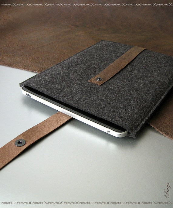 iPad case for your iPad iPad sleeve FUSION german wool felt and leather