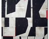 MONACO . original abstract modern painting 30 x 30 / ELSTON