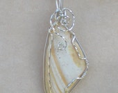 SALE (was 30.00) Sea Shell Pendant Wire Wrapped in Sterling Silver