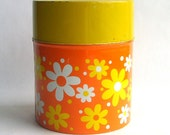 Retro Daisy Flower Storage Tin