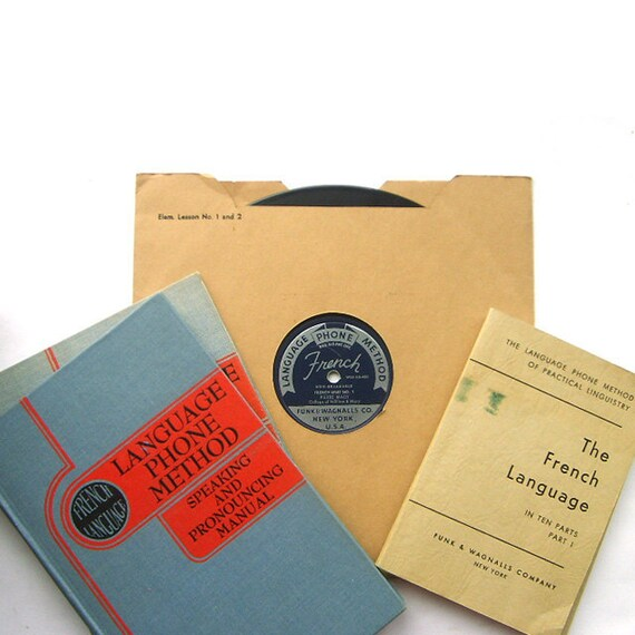The Language Of Love. Learn To Speak French Record Album Set Plus Books