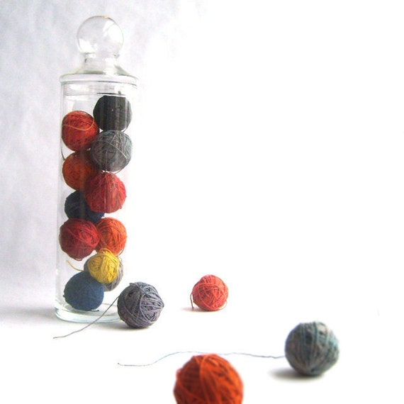 Hand Dyed Vintage Twine Ball Collection