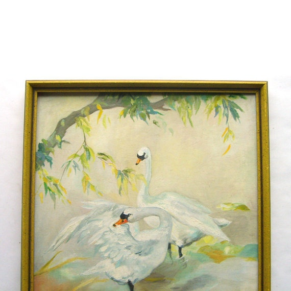 Original Trumpeter Swan Framed Painting