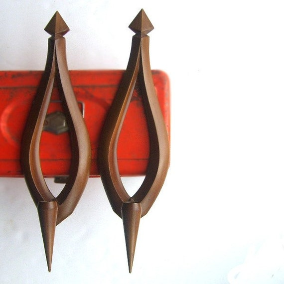 Wall Candle Sconces Etsy : Mid Century Modern Candle Wall Sconce Set