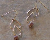 Hand-crafted Kathey Earrings with Leopard Skin Jasper Beads