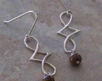 Hand-crafted Michelle Sterling Silver Earrings with Shell Beads