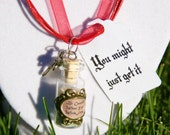 Becareful What You Wish Fors Bottle Necklace