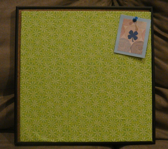 Items similar to reduced for yart sale modern fabric for Modern cork board