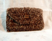 Upcycled Clutch - Brown