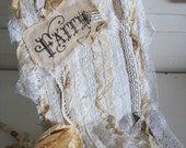Rustic Romance Lace Journal - FAITH - Inspiration Diary - Perfection for scrapbook or Bible Journal