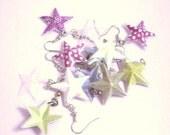 CUSTOM ORDER -  for  SmilinThyme - 3 x Itsy Bitsy Teenie Weenie Wonder Star - Earrings