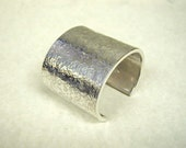 Weathered Texture Cuff Bracelet