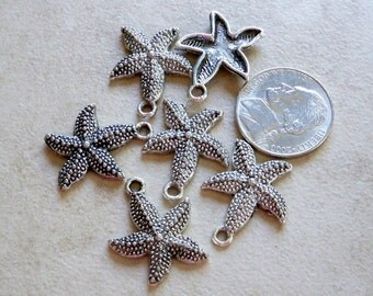 Antiqued Silver toned Starfish is the perfect seashore charm
