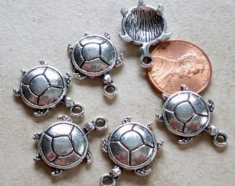 So cute Little Turtle Charms in an antiqued silver finish