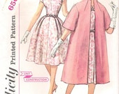 Vintage Simplicity Sewing Pattern 3348 1960's Mad Men Chic Cocktail Dress and Coat Bust 34 Uncut