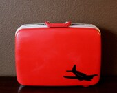 VINTAGE red ECHOLAC SUIT CASE - First Class