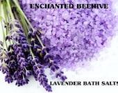 Lavender Bath Salts 16 oz. - Aromatherapy - Skin Care - Pure Essential Oils - Skin Detox - Bath Products -  Bath And Body -  Lavender Scent