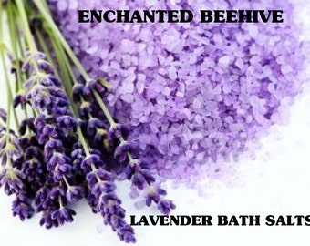 Lavender Bath Salts 16 oz. - Aromatherapy  - Skin Care - Pure Essential Oils - Skin Detox - Bath Products -  Bath And Body -  Lavender Scent