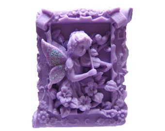 Fairy Soap - Organic Soaps - Decorative Soap -  Glycerin Soap - Natural Soaps - Purple Soaps - Fragrance Oil Lily Of The Valley