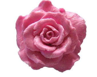 Rose Soap  - Organic  Soap -  Pink Roses - Decorative Soap  - Shabby Chic - Moisturizing Soap  - Pink Soap-  Essential Oil Rose