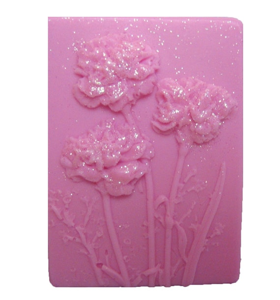 Carnations - Organic Soaps - Pink Soaps  -  Flower Soaps  -  Glycerin Soap -  Moisturizing Soap   -   Fragrance Oil Carnation