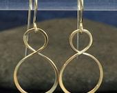 infinity earrings solid 14k gold