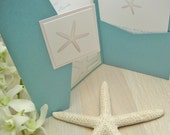 Starfish Beach Wedding Invitations and Save the Dates - custom listing for Erin