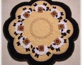 Sheep  Penny Rug Candle Mat DIGITAL PATTERN