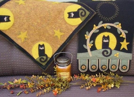 Autumn/Halloween penny rug runner/table quilt pdf DIGITAL PATTERN