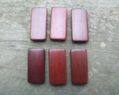 LAST LOT - 20 Pack Bamboo Tiles Dark Brown Great for jewelry, altered art Ship from Australia