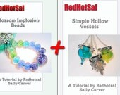 Blossom Implosion Beads/Simple Hollow Vessels Tutorial Bundle by Redhotsal