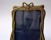 Bow Bow Brass Photo Frame Art Deco Style