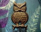 Lovely Vintage Owl Hook Hanger or Key Holder