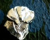 Antiqued Pewter Tie Tack Pin  Labrador