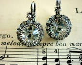 Beautiful Round Earrings with Rhinestones