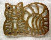 Brass Cat Pot Trivet