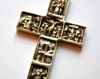 Vintage Brass Crucifix