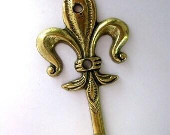 Fleur de Liz Brass Coat Rack