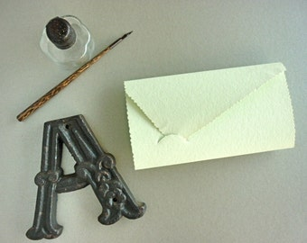 Antique 2 in 1 - Paper card and Envelopes -set of ten