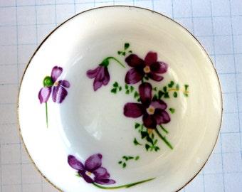 Porcelain Bowl with Violets