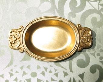 Solid Portuguese Brass Ornament Mini Tray