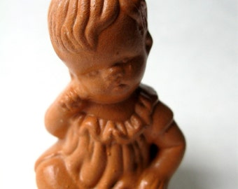 SALE Lovely Vintage Clay Baby Girl