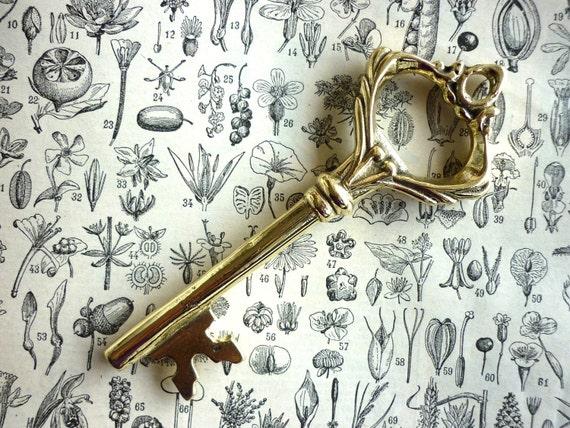 Brass Victorian Key Bottle Opener