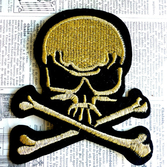 Skull Applique Iron on/sew