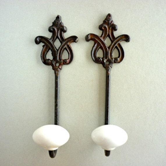 2 Hand Painted Anagram Hooks