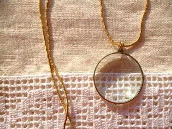 Monocle Lens Necklace