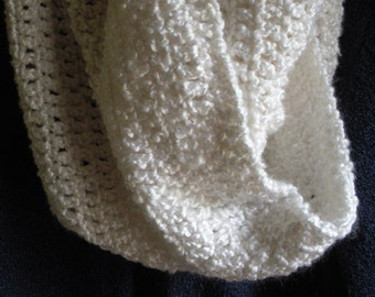 Cowl neck Scarf in White