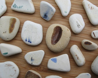 Genuine FLAWLESS Surf Tumbled Sea Glass Pottery Pieces for Jewelry