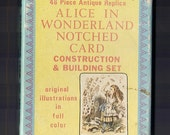 Alice in Wonderland Notched Card construction & building set 48 piece antique replica illustrations