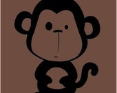 a WonkyMonkey named Cuthbert - Womens Fitted Tshirt - Chocolate
